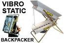 Vibrostatic Back Packer Drywasher